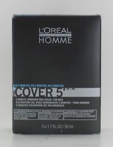 Loreal Homme Cover 5 5 Minute Ammonia Free Color For Men 3 x 1.7 Oz $23.56