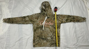 CABELA#x27;S CAMO GAME DAY LONG SLEEVE HOODIE STITCHED LOGOS WOMEN#x27;S SMALL