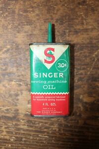 Vintage Singer Sewing Machine Oil Can Tin $12.00