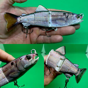 """Trout Swimbait Floating 4 Sections 6.50"""" 1.50oz Glide Bait Bass Lure Pike Lure"""