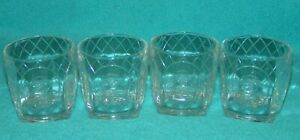 LOT of 4 CROWN ROYAL Whiskey Cocktail Glasses 3 SETS AVAILABLE = Discount S H
