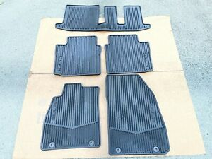 13 19 CADILLAC XTS AWD ALL WEATHER RUBBER FLOOR MAT 5 PIECE SET OEM $125.00