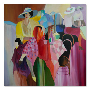 Large After Itzchak Tarkay Large Oil Painting quot;Ladies At Barquot; $300.00