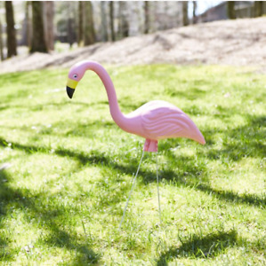 Flamingo Garden Statue Pink 23 Inch Large Yard Decor Metal Legs Included $45.04