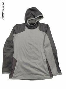 Under Armour Hoodie Mens L Large Coldgear Reactor Gray Pullover Hoodie Fitted $14.00