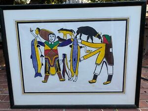 Simon Tookoome Inuit lithograph quot; A Time of Plentyquot; 1970 $975.00