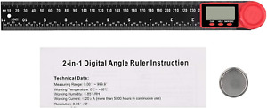 Kamtop LCD Digital Angle Finder Ruler 12 Inch 360° Protractor Measure Tools with $24.12