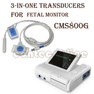 3 in one Transducers for Fetal doppler Monitor Ultrsound CMS800G FHR TOCO $200.00