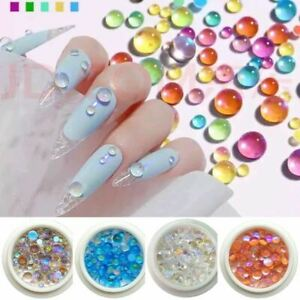 Halloween event discount Women Mixed Size Mermaid Round Glass Crystal Beads AB N