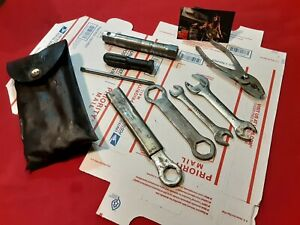 Vintage YAMAHA Motorcycle Tool Kit WITH oem tool bag ships priority mail $36.50