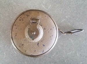 Vintage Antique LUFKIN 25 Ft. Cloth Wind Up tape Measure Made in the USA $2.99