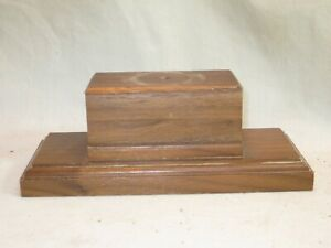 vintage wooden base wood trophy bottom award display stand part 7quot; x 3quot; x 2.5quot;