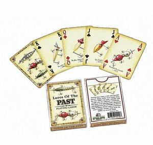 Fishing Tackle Lures of the past playing cards 54 different antique lures