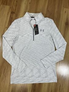 Under Armour Mens 3 4 Zip Pullover Small Item 1325632 100 $24.00