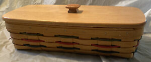 1999 Longaberger Woven Traditions Bread Basket with Lid $25.00