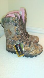Itasca Womens hunting boot waterproof camouflage 1000 thinsulate pink
