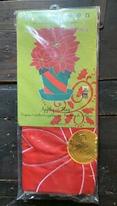 NEW Christmas Large Yard House Flag Poinsettia Holiday by Evergreen $10.00