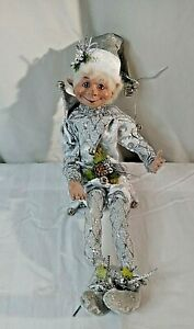 18 Inch Robert Stanley Home Collection Silver Elf Christmas Decoration Holiday