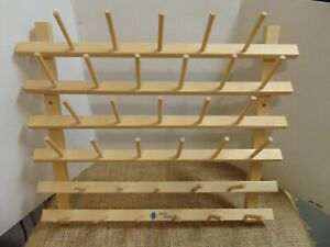 June Tailor Wooden 33 Sewing Thread Cone Rack Holder $29.99