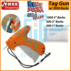 Garment CLOTHING PRICE LABEL TAGGING TAG TAGGER GUN WITH 2000 BARBS 1 Needle $7.99