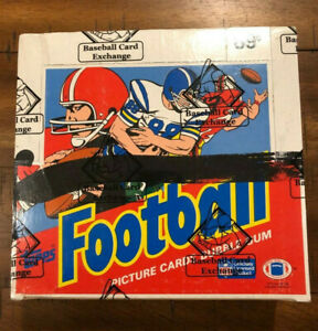 1986 TOPPS FOOTBALL CELLO BOX BCE CERTIFIED MINT  FREE SHIPPING $9199.00
