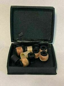 Vintage BELDING CORTICELLI Travel Sewing Mending Silk Thread w Case Thimble $12.99