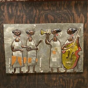 """EARLY ALIZANDRO VALENCIA MEXICAN CONTEMPORARY SCULPTURE OF METAL SIGNED 9.5X12"""" $495.00"""