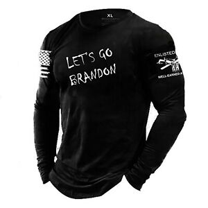 LET#x27;S GO BRANDON Enlisted Ranks graphic t shirt NOT GRUNT STYLE $19.95