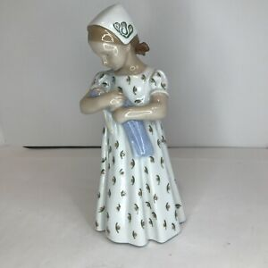 Bing and Grondahl Vintage Porcelain Girl with Doll #1721 MINT Condition $115.00