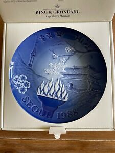Bing Grondahl Porcelain Collectable Plate Seoul Olympics 1988 MIOB $21.95