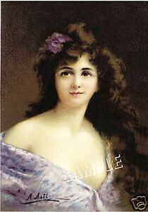 VICTORIAN LADY in LILAC GOWN *CANVAS* ART ANGELO ASTI $25.90
