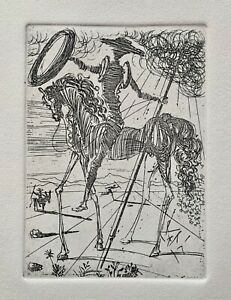Salvador Dali DON QUIXOTE Plate Signed Restrike Etching in Mint Condition $99.99