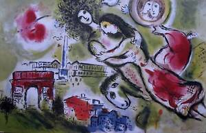 MARC CHAGALL quot;ROMEO amp; JULIETquot; Signed Limited Edition Lithograph Art $59.99