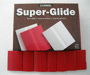 Carmel Super Glide Premium 48 Pieces Red Tailors Chalk $16.95