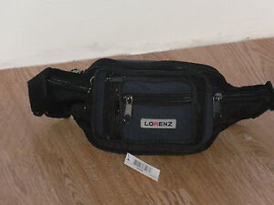 Multi Zip Waist Bag Bumbag With 8 Zips And 2 Front Pouches.