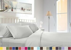 1800 COUNT DEEP POCKET 4 PIECE BED SHEET SET 26 COLORS AND ALL SIZES AVAILABLE $24.99