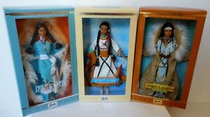 Set Of 3 Native Spirit of the Sky Earth & Water Barbie Dolls~NIB~NRFB~Rare!