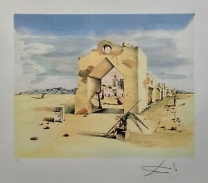 Salvador Dali PARANOIC VILLAGE Signed Limited Edition Lithograph Art $59.99