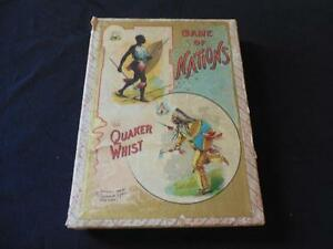 vintage 1898 quaker whist game of nations