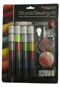 56 Pce Sewing Kit Includes Spools of Assorted Colour Thread amp; Basic Sewing Kit GBP 4.99
