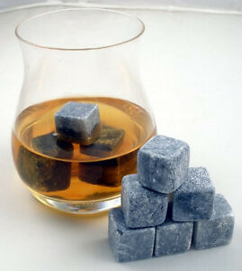 1 9 pc Gray Whisky Stones Chilling Cooling Cold Cool Wine Rocks Ice Cubes Pouch $6.99