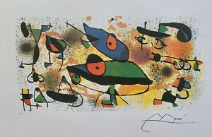 JOAN MIRO quot;SCULPTURES IIquot; Facsimile Signed Limited Edition Lithograph Art $59.99