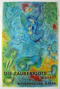 Marc Chagall The Magic Flute Die Zauberflote Mourlot Large Lithograph Art $99.99