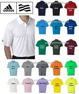 ADIDAS Mens Dri Wick Climalite GOLF Polo Sport Shirts Size S 3XL NEW A130 $25.95