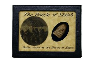 Shot Civil War Bullet from The Battle of Shiloh with Display Case and COA $16.89