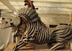 Armored Unicorn Original Bronze Sculpture by Marston Smith