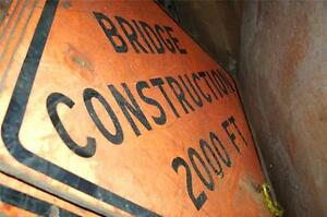 Highway Road Bridge Construction Signs 4' 48