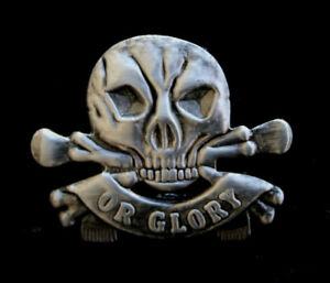 DEATH OR GLORY HAT PIN SKULL17th Lancers UK Queens Royal Lancers ENGLISH BRITIAN