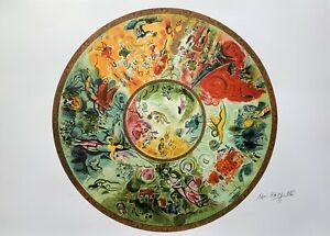 MARC CHAGALL quot;PARIS OPERA CEILINGquot; Signed Numbered Lithograph Art $59.99
