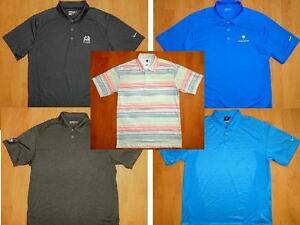 LOT of 5 NIKE FIT DRY FIT GOLF POLO SHIRTS MENS LARGE